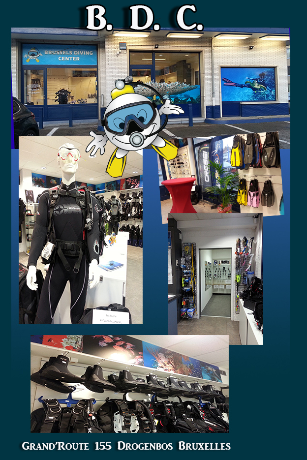 bdc diving shop duiken winkel magasin plonge sous marine